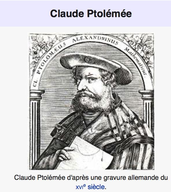 Gravure de Claude Ptolémée