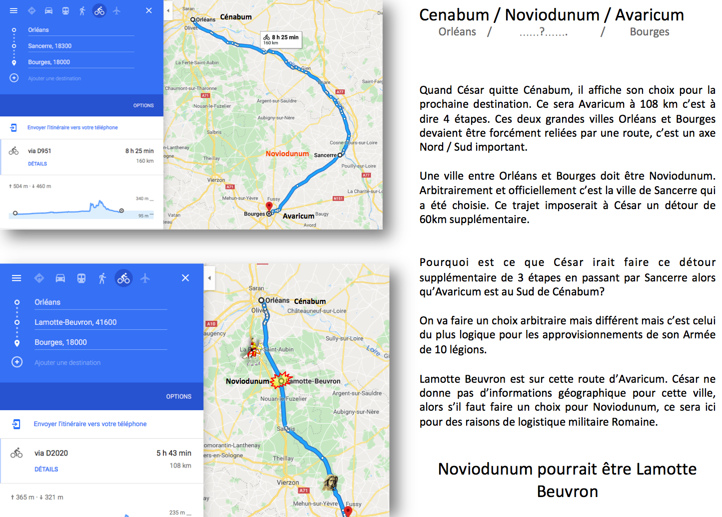Noviodunum entre Cenabum et Avaricum