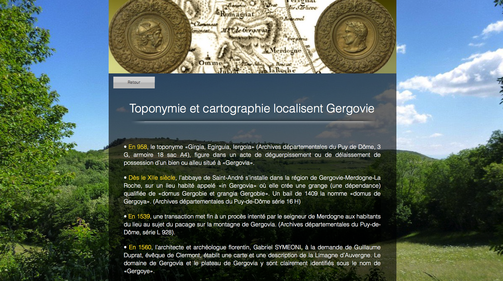 Site officiel de Gergovie Merdogne