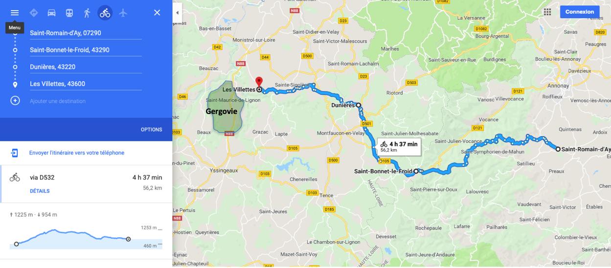 route de la logistique du camp de César