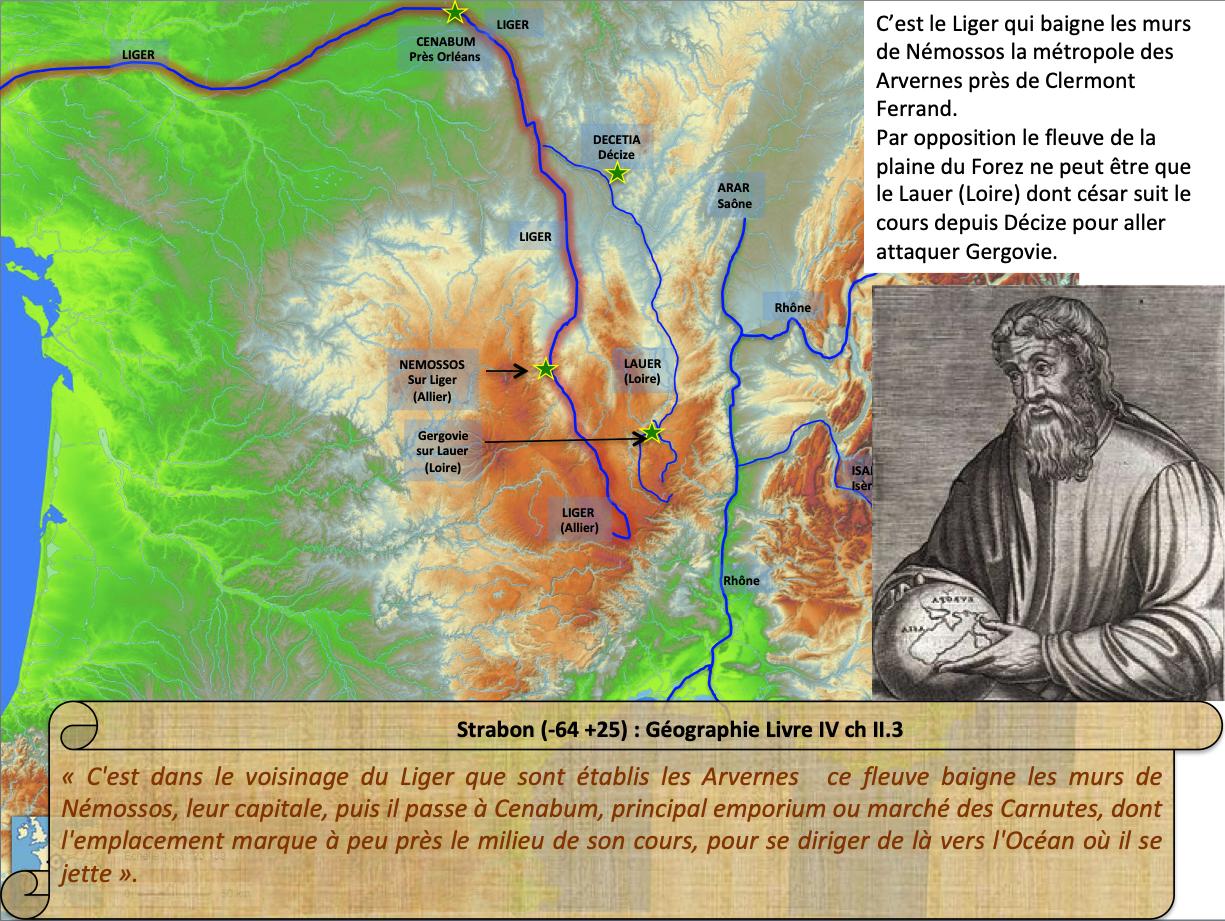 Strabon localise le Liger entre Némossos et Nantes