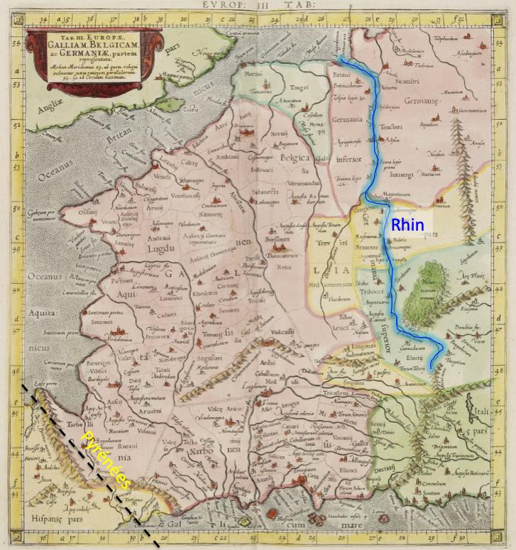 Axe de la chaine des Pyrénées